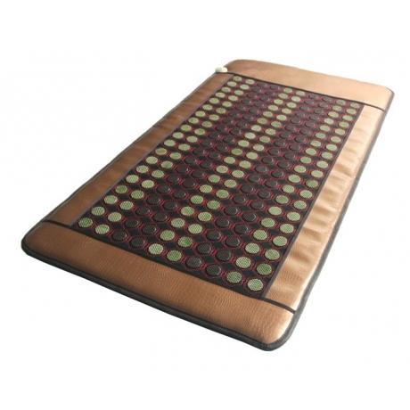 Турмалиново-нефритовый коврик в сеточке с подогревом Health & Relax (средний)