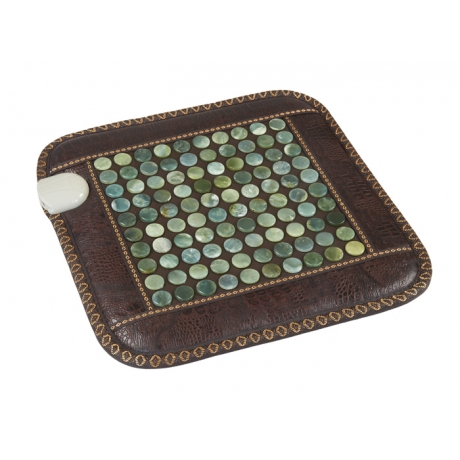 Нефритовый коврик с подогревом Health & Relax (450х450)