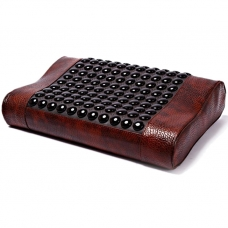 Турмалиновая подушка для лечения шейных позвонков с памятью и подогревом Health & Relax
